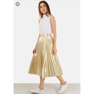 5c6918f8255 Charlotte Russe Skirts - Plus Size Pleated Faux Leather Midi Skirt
